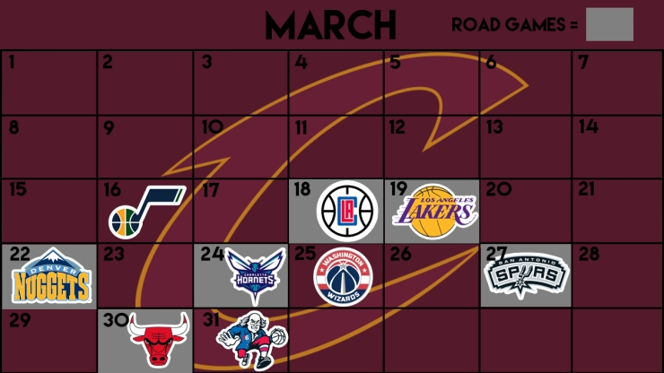 Cavs march