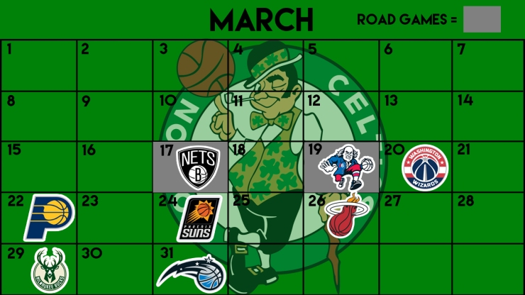 Celtics march